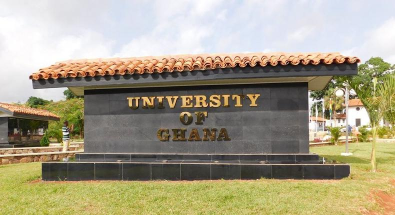 A monument of University of Ghana at the main gate