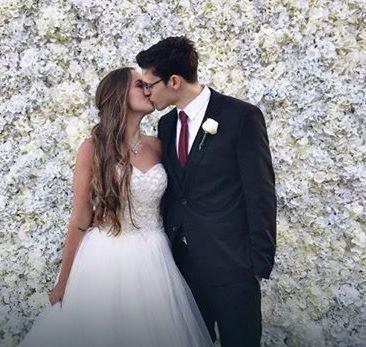 Velimir i Džesika na venčanju