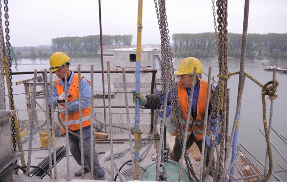 Kineski radnici na Pupinovom mostu