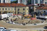 Gradnja kružnog toka u Užicu