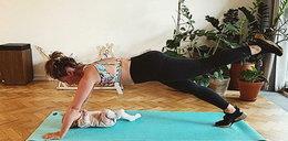 Olga Frycz pokazała, jak trenuje z córką
