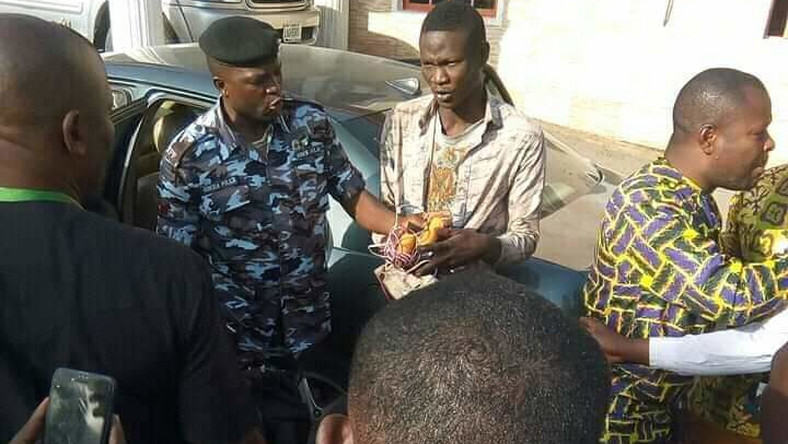 Police arrest suspected suicide bomber after failed attempt to blow up Living Faith Church, Sabin Tasha, Kaduna State [Facebook]