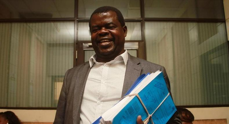 Human Rights activist Okiya Omtatah. Omtatah moved to court to quash presidents move on police reforms.