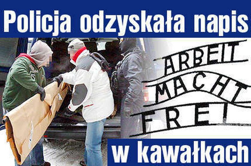 """Policja odzyskała napis """"Arbeit macht frei"""". Nowe fakty"""