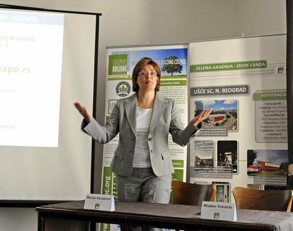 Marija Golubović, predsednica Saveta zelene gradnje Srbije