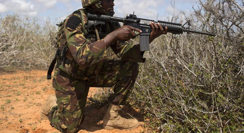 File image of a KDF soldier during a past operation