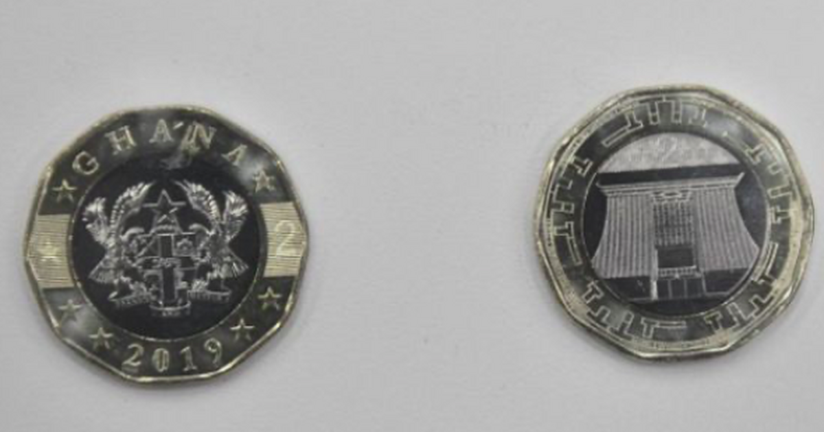 Video: Bank of Ghana has introduced a new GHc 2 coin; check out the security features
