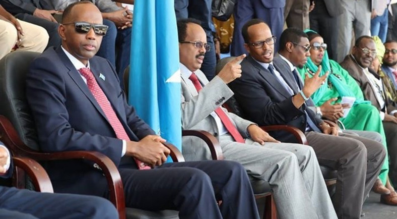 Somali's Prime Minister Hassan Khayre with President Farmaajo. (Garowe Online)