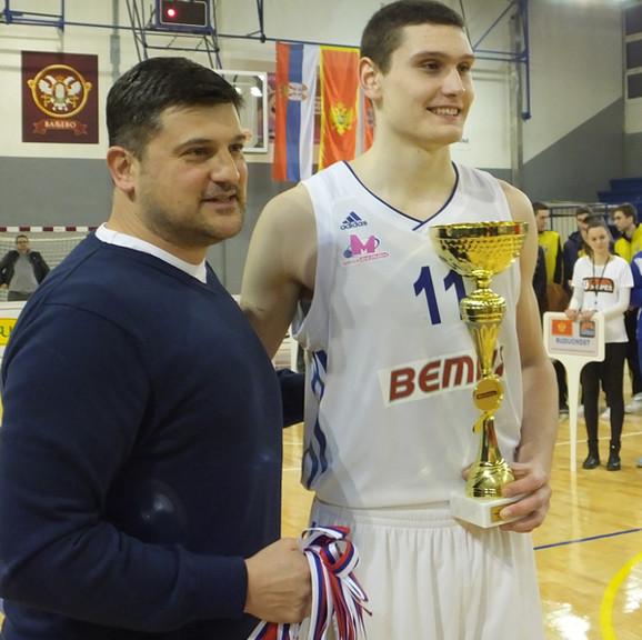 Vladimir Đokić i MVP turnira Aleksandar Langović