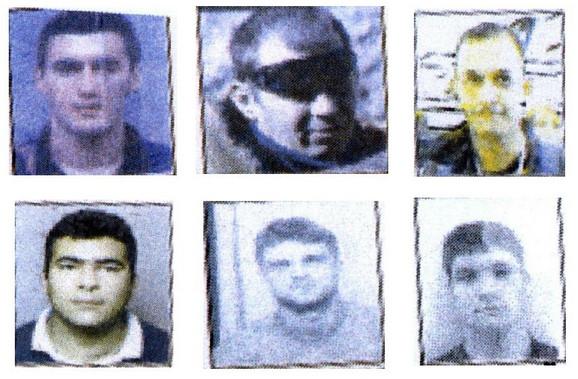 Dejan Stojanović Keka, Aleksandar Sekulić Seka, Alen Memović Mali, Goran Nešić Ciga, Milan Karanović i Aleksandar Nešić Aki