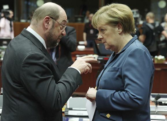 Angela Merkel i Martin Šulc
