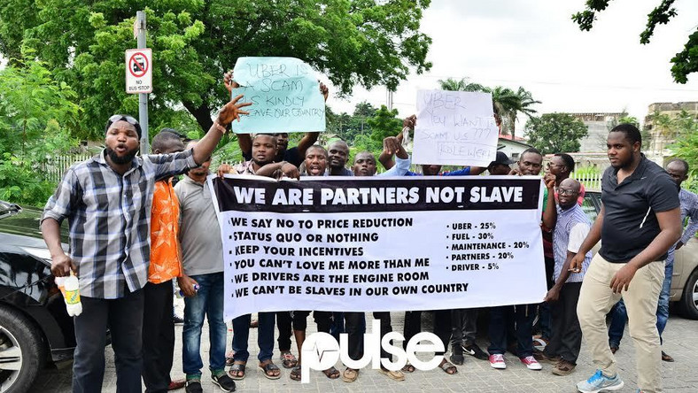 Uber Lagos Drivers have declared a strike, protest 40% price