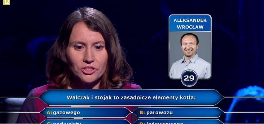 """""""Milionerzy"""" prawniczka z Warszawy odpadła na pytaniu o walczak i stojak! Czego są elementami? Sprawdź."""