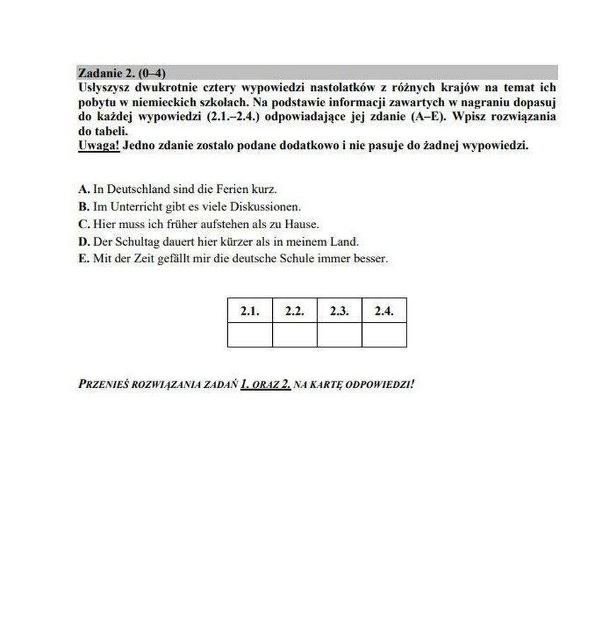 Egzamin gimnazjalny 2018 Język niemiecki podstawowy i rozszerzony. Częśćjęzykowa. Arkusze