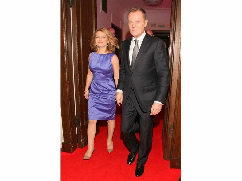 Donald Tusk z żoną Małgorzatą na benefisie Daniela Olbrychskiego