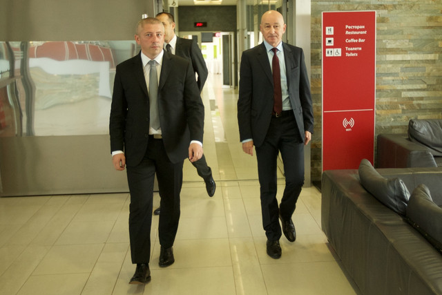 Prvi čovek FSS-a Slaviša Kokeza i doskorašnji selektor Slavoljub Muslin