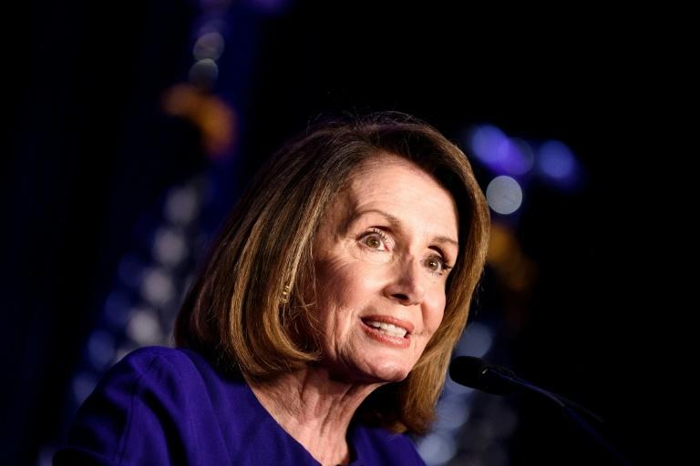 House Minority Leader Nancy Pelosi speaks during a midterm election night party hosted by the Democratic Congressional Campaign Committee November 6, 2018 in Washington, DC