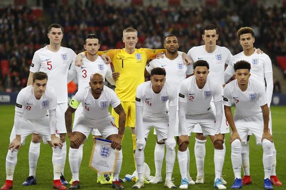 Fudbalska reprezentacjia Engleske pred nedavni, novembarski dueli sa SAD na Vembliju