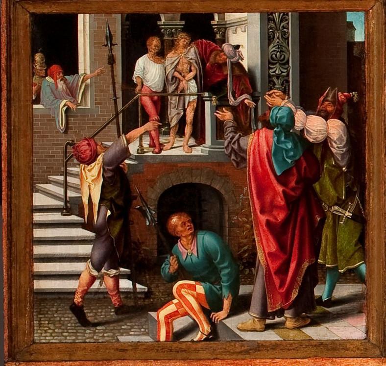 Joos van Cleve z warsztatem   Joos van Cleve with the workshop, Ecce Homo (kwatera z Ołtarza św. Rajnolda)   Ecce Homo (panel from the Saint Reinhold's Altarpiece), ok.   c. 1515; (fotografia w świetle widzialnym)