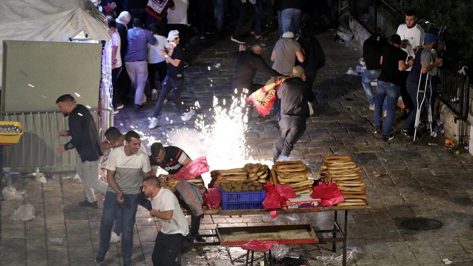 Palestyńczycy protestujący przeciw wysiedleniom z Jerozolimy
