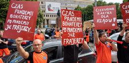 Rząd potraktował nas z buta. Protest ratowników medycznych