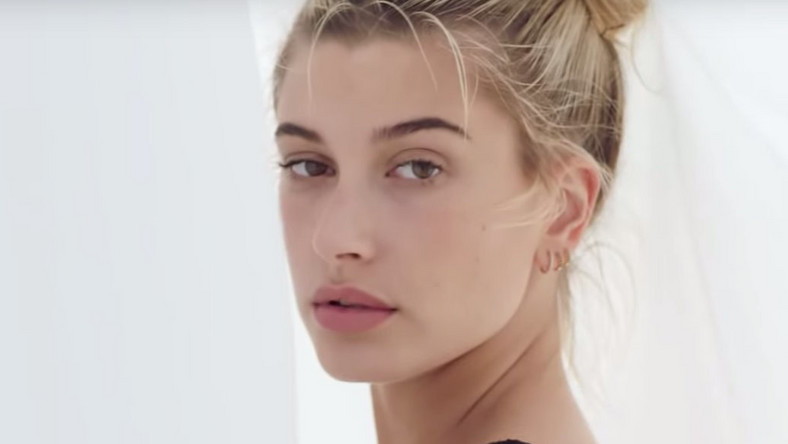 Hailey Baldwin in the Fyre Festival promo video.
