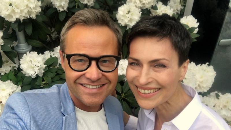 Łukasz Maciejewski i Danuta Stenka