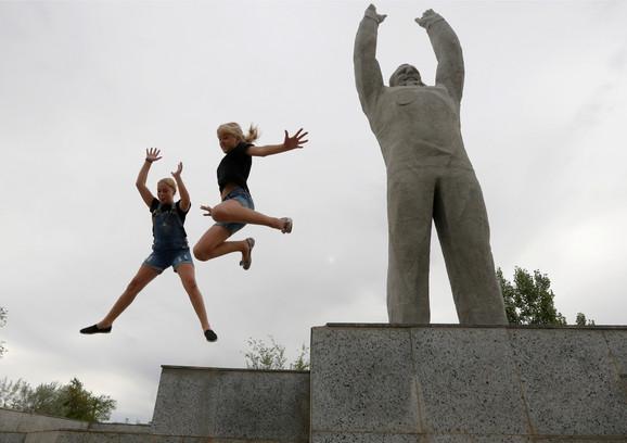 Statua Gagarina kod kosmodroma u Bajkonuru