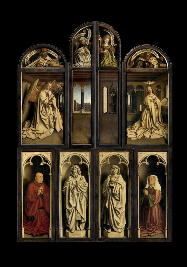 Ganski oltar, zatvoren, pre restauracije,  Saint Bavo's Cathedral Ghent