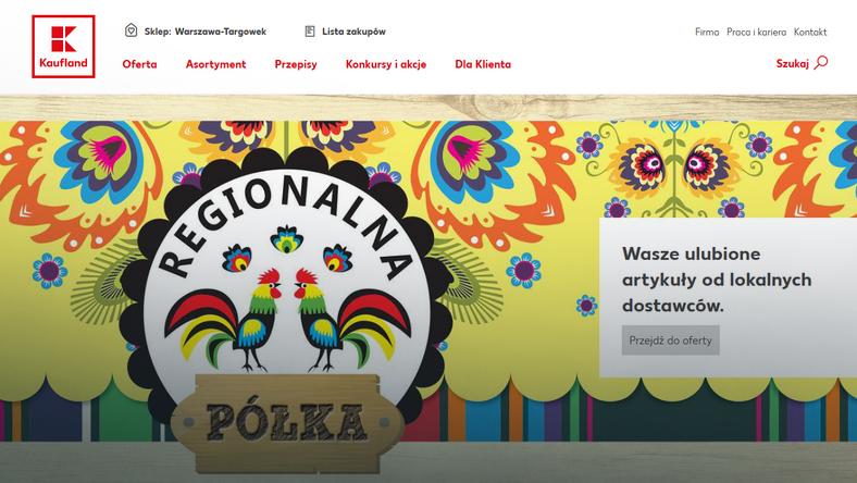 Kaufland - strona internetowa po nowemu