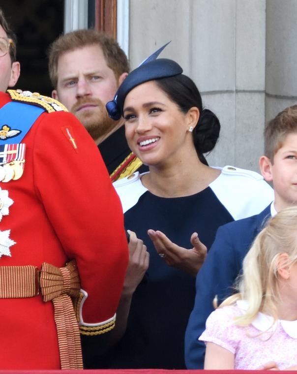 Harry i Meghan podczas Trooping The Colour