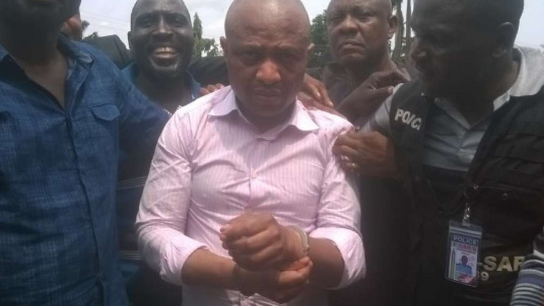 Evans was arrested in 2017 by a special police team. He was reputed to be one of Nigeria's most feared kidnappers (Vanguard)