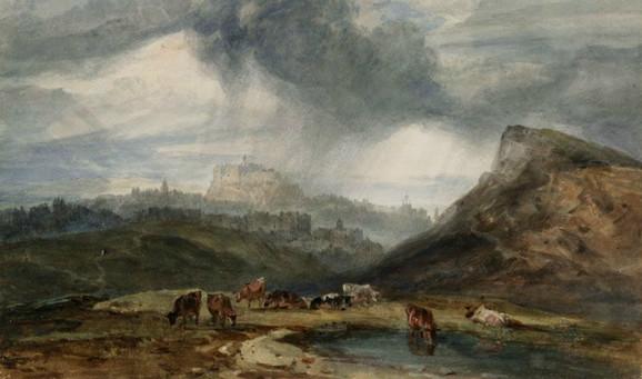 Pogled na Edinburg, 1801.