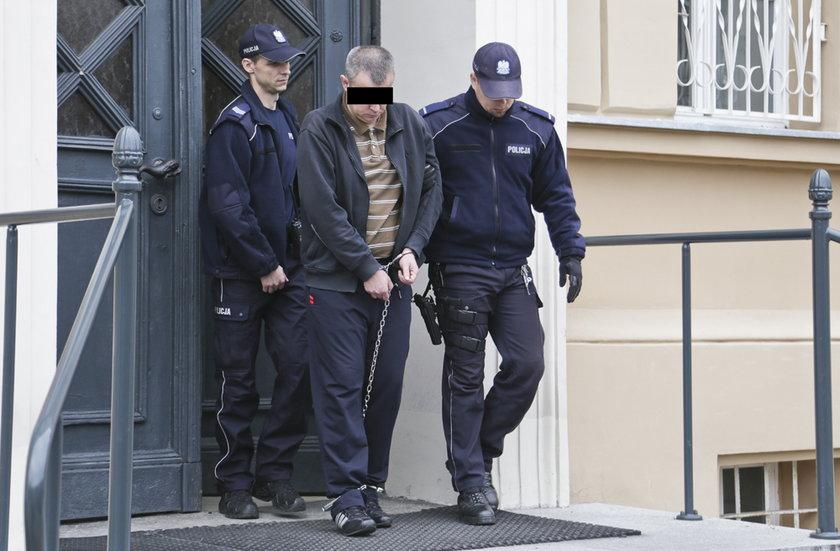Jerzy M. w drodze do aresztu