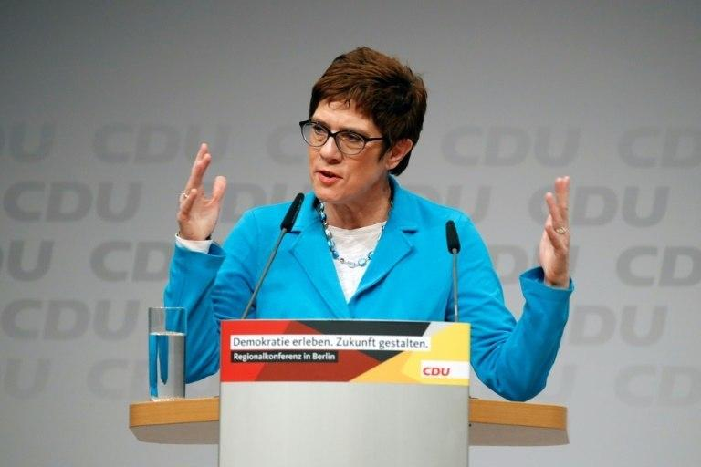 CDU Secretary General Annegret Kramp-Karrenbauer, known as AKK, is a close collaborator of Merkel and seen as someone to maintain her legacy