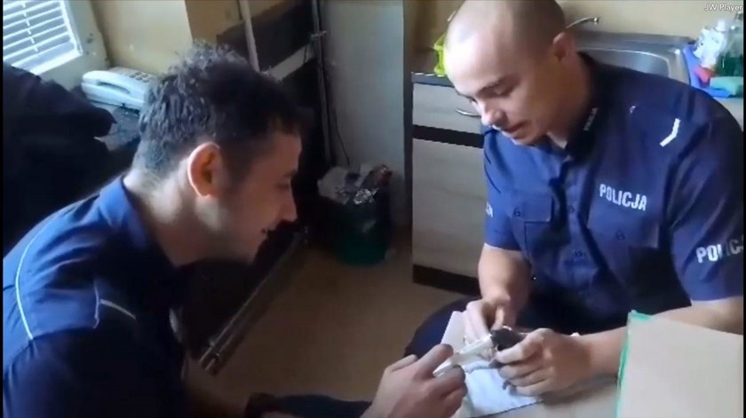 Tak policjanci z Myślenic ratowali małe kotki