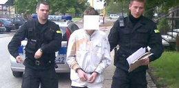 Szczawik rzucił się z nożem na policjantów