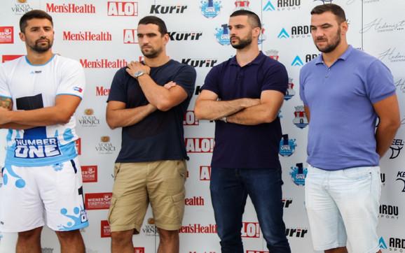 Nikola Rađen, Gojko Pijetlović, Branko Lazić i Duško Pijetlović