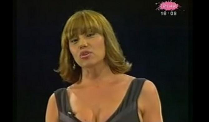 """Branka Nevistić kao voditeljka emisije """"Piramida"""""""