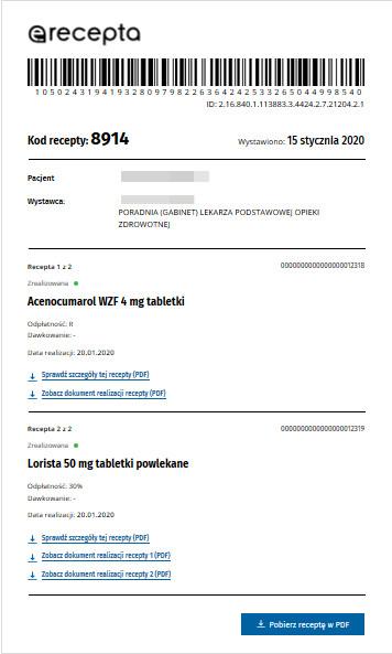 e-recepta (przykład)