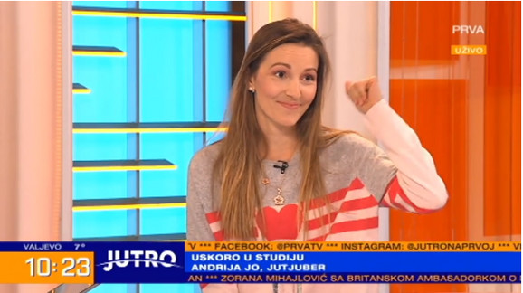 Jelena Đoković u jutarnjem programu