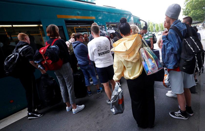 Wielka ewakuacja we Frankfurcie