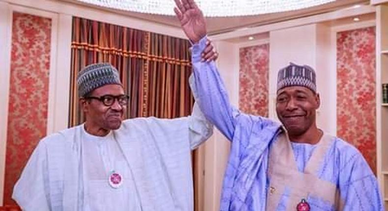 Borno Governor-elect, Babagana Zulum, pictured with President Buhari, has the biggest winning margin (twitter/ZulumCentre)