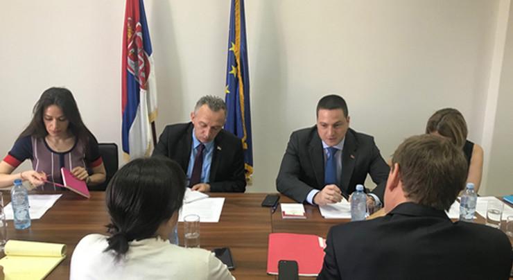 Branko Ružić na sastanko sa Džejmsom Rufom