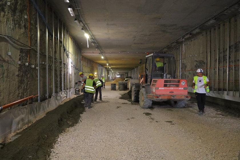Podziemna ulica w Nowym Centrum Łodzi