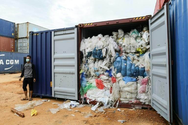 Dozens of shipping containers of waste seized on Batam Island near Singapore have been shipped back to the United States, Germany, France, Hong Kong and Australia