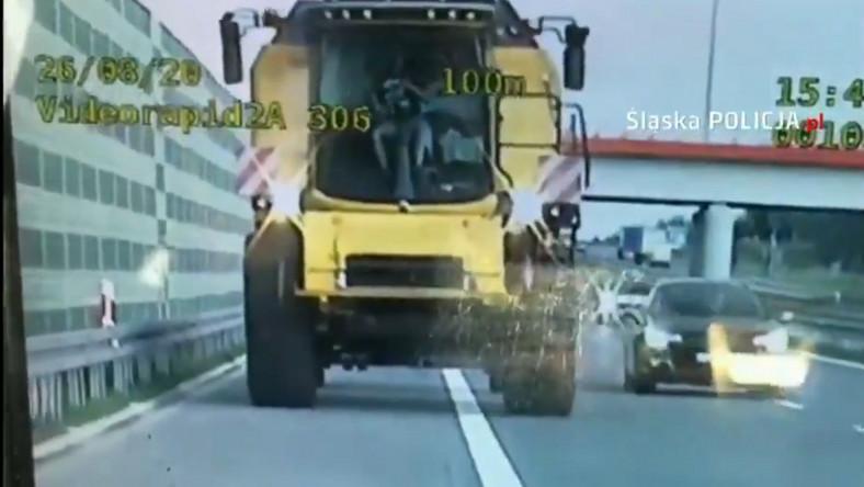 Kombajn na autostradzie A1