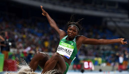 Nigeria's Ese Brume at the Tokyo 2020 Olympic Games