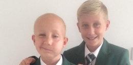 Pokonał nowotwór. Nowy rok szkolny rozpoczął z bratem bliźniakiem