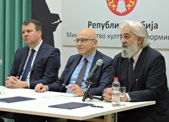 Igor Mirović, Vladan Vukosavljević i Petar Arbutina
